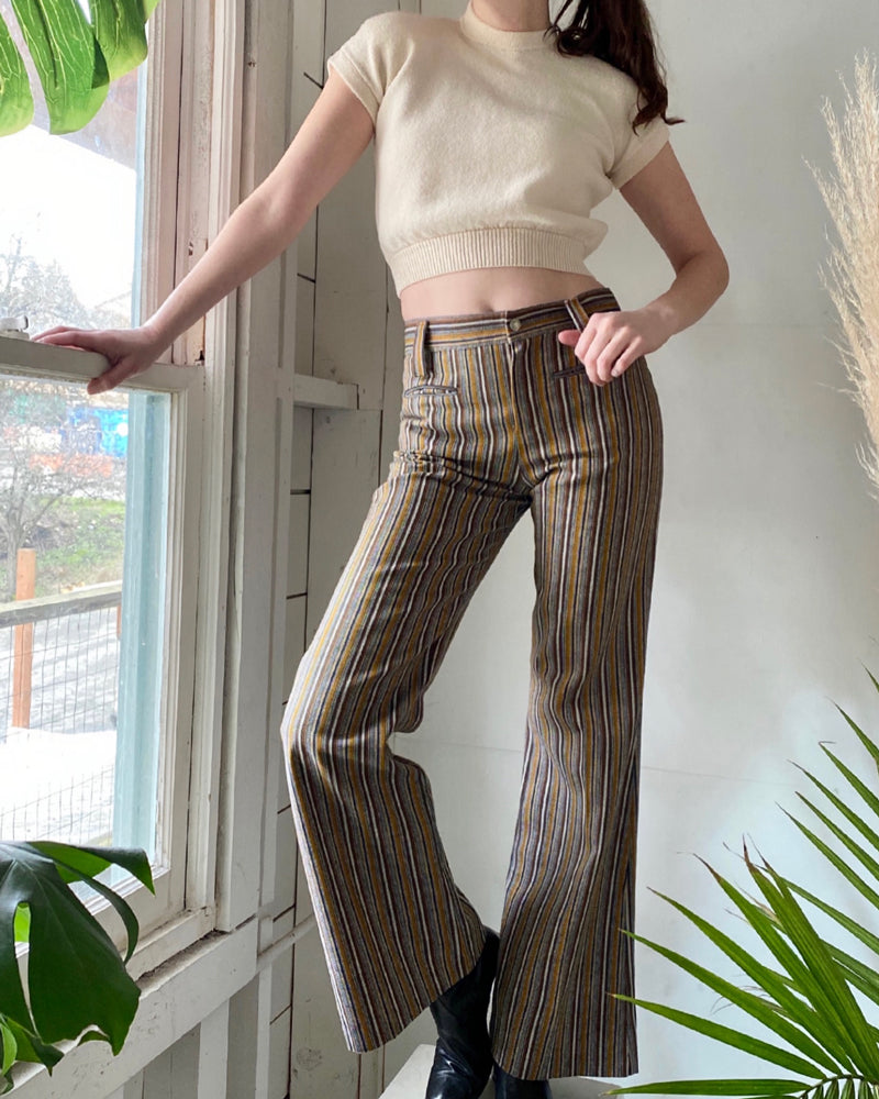 60s Striped Bellbottoms
