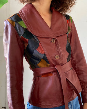 70s Patchwork Leather Jacket