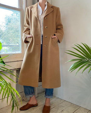 80s Camel Hair Overcoat