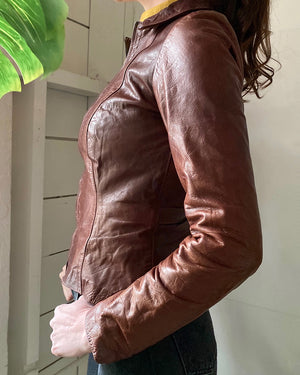 70s Fitted Leather Jacket