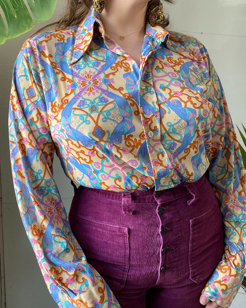 70s Novelty Print Shirt