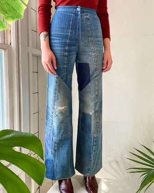 70s Patchwork Selvedge Jeans