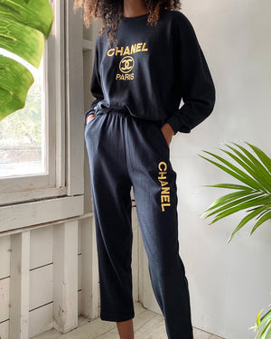80s Chanel Logo Lounge Set