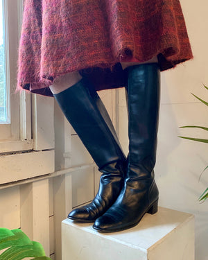 80s Ferragamo Knee High Boots