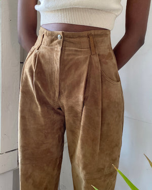 90s High Waist Leather Pants