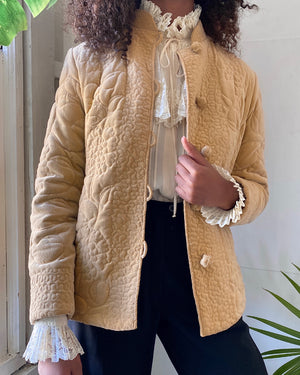 80s Quilted Velvet Jacket