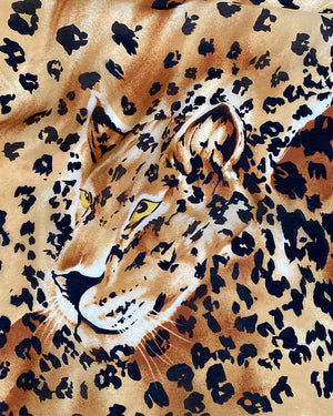 80s Leopards Silk Scarf