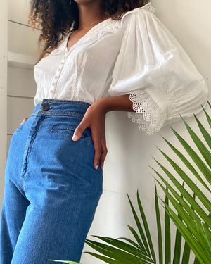 80s Puff Sleeve Blouse