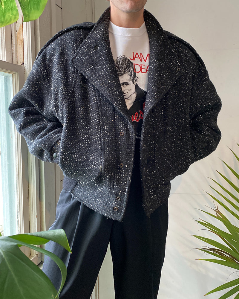 80s B&W Wool Jacket