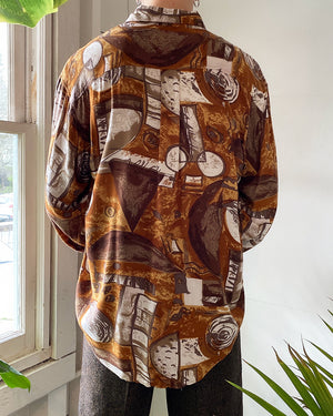 90s Abstract Print Shirt