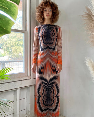 70s Optic Print Dress