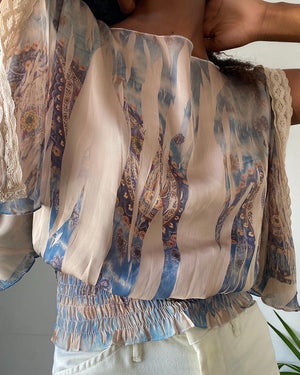 70s Draped Scarf Top