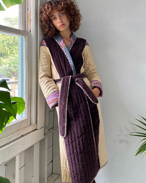 70s Patchwork Quilt Duster