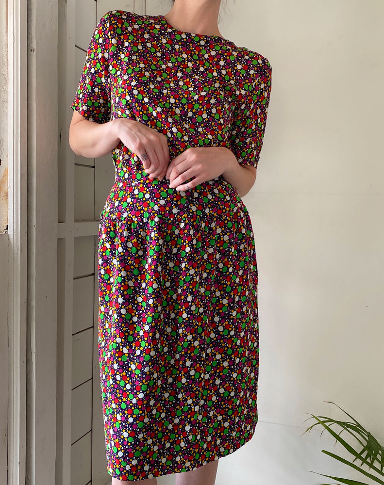 80s Chloe Polka Dot Dress Set