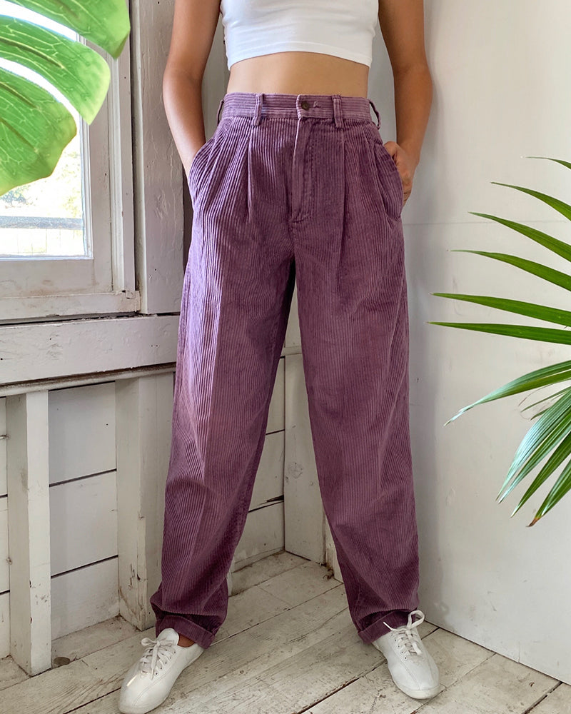 80s Dusty Purple Cords