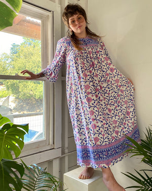 80s Indian Cotton Tent Dress