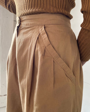 80s Pleated Cotton Trousers