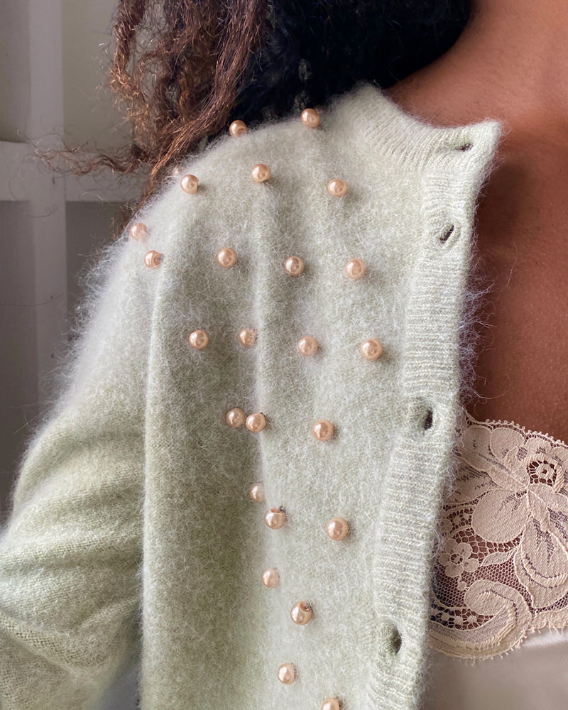 90s Pearl Beaded Cardigan