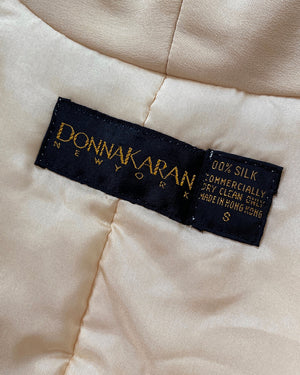 90s Donna Karan Quilted Silk Jacket