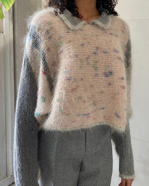 90s Hand Knit Mohair Sweater