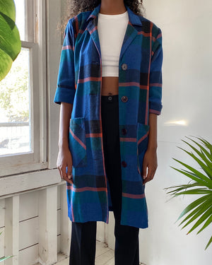 80s Plaid Duster