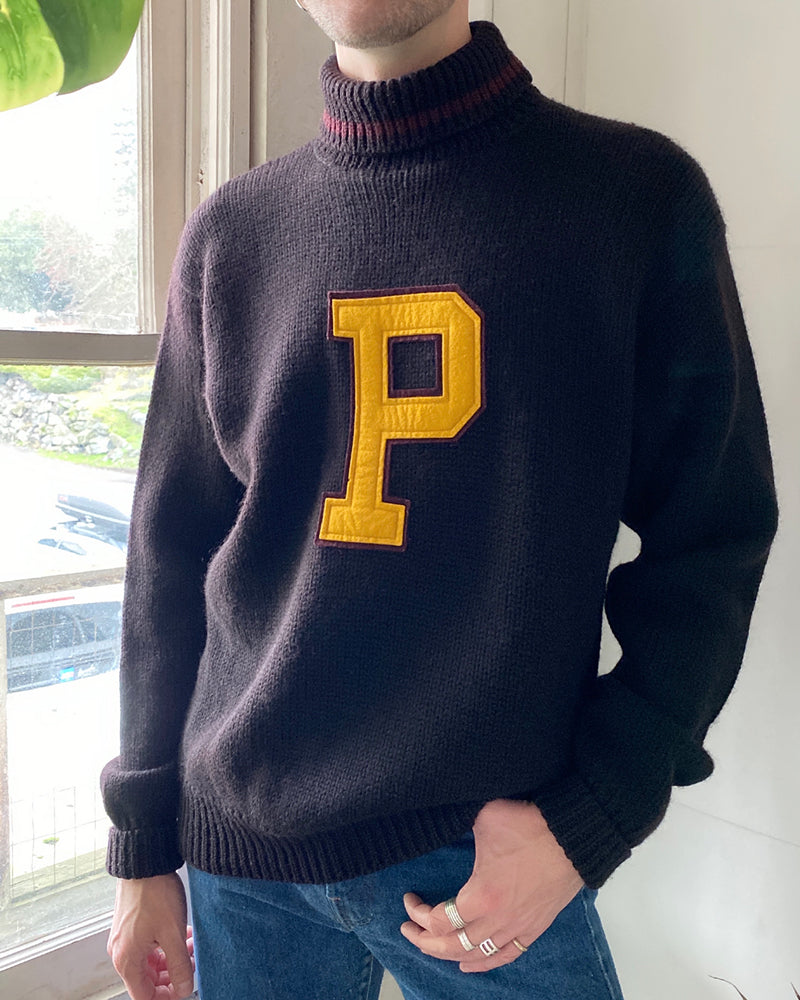 90s Polo P Varsity Sweater