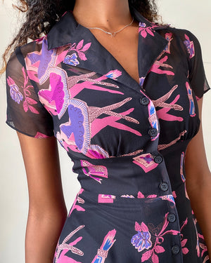 90s Betsey Johnson Silk Dress