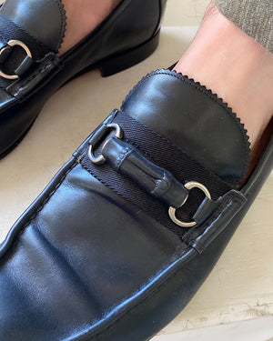 Gucci Black Bamboo Loafers