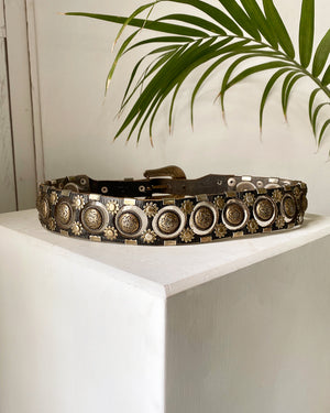 80s Jose Cotel Studded Vinyl Leather Belt