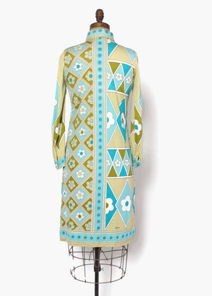 70s Paganne Psychedelic Shirt Dress