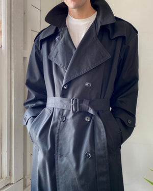 80s Dior Belted Black Trench