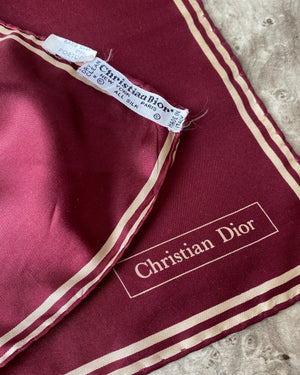 Christian Dior Silk Pocket Square