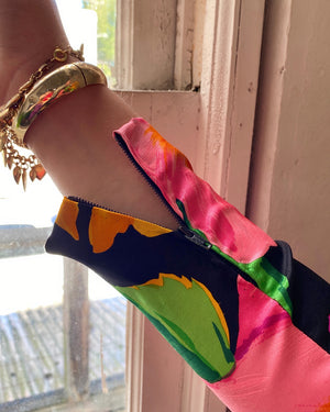 80s Christian Lacroix Silk Dress