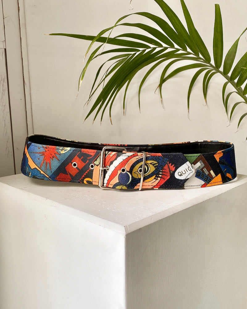90s Comic Book Print Belt