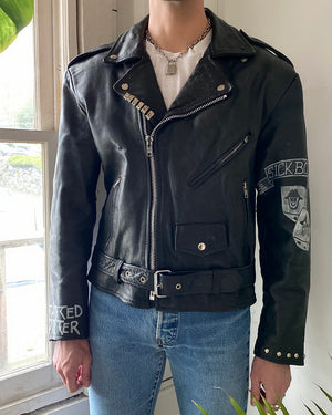 Custom Painted & Studded Punk Jacket