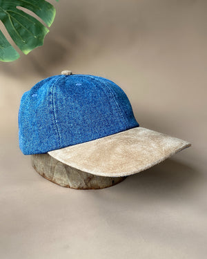 90s Denim & Suede Hat