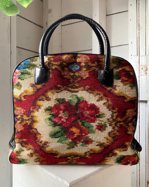 60s Koret Tapestry Travel Bag Purse
