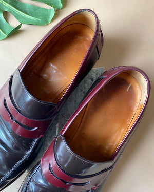 Gucci 2-Tone Leather Loafers