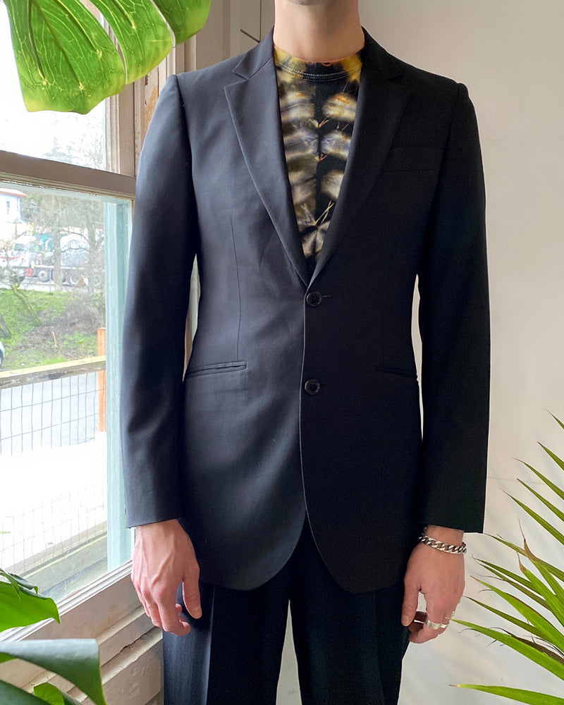 Burberry Black Wool Blazer