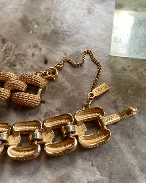 80s Monet Gold Chain Bracelet