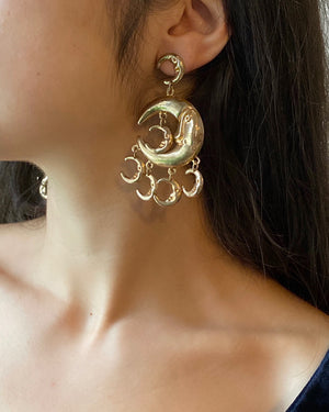 80s Crescent Moon Earrings