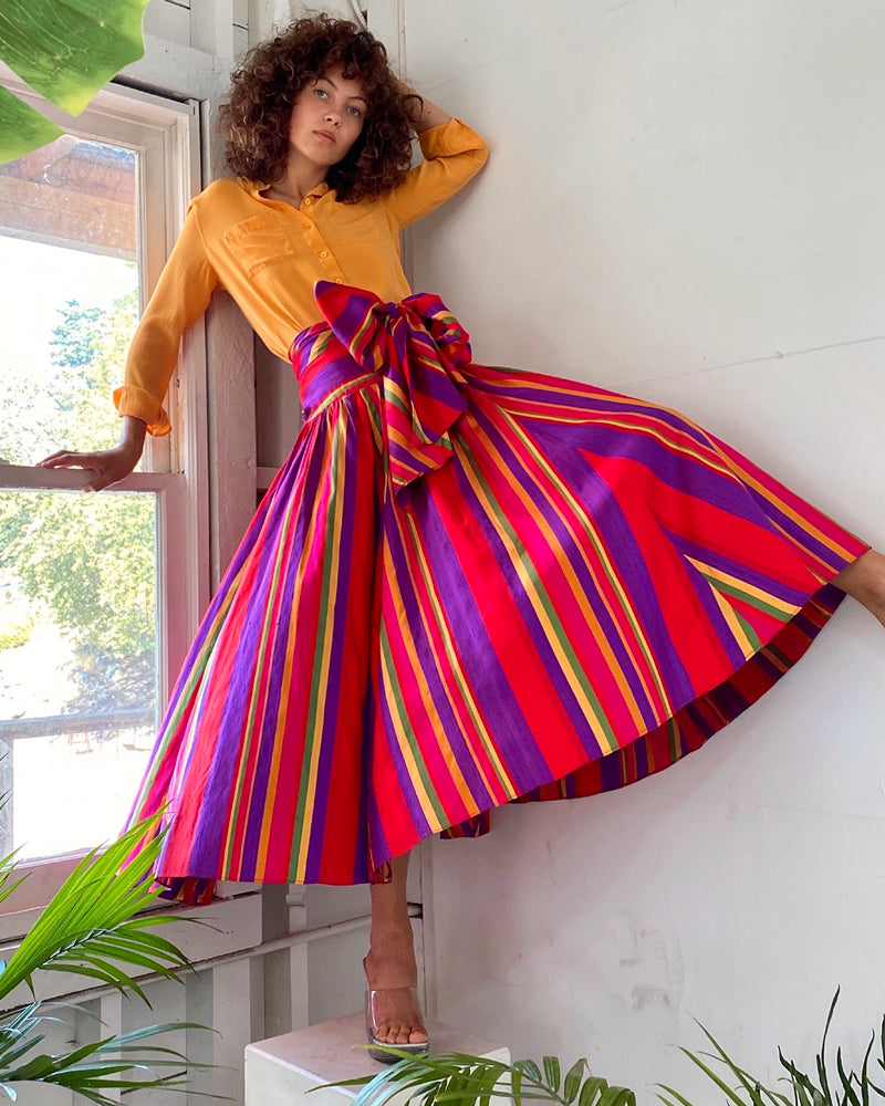 80s Ralph Lauren Silk Skirt