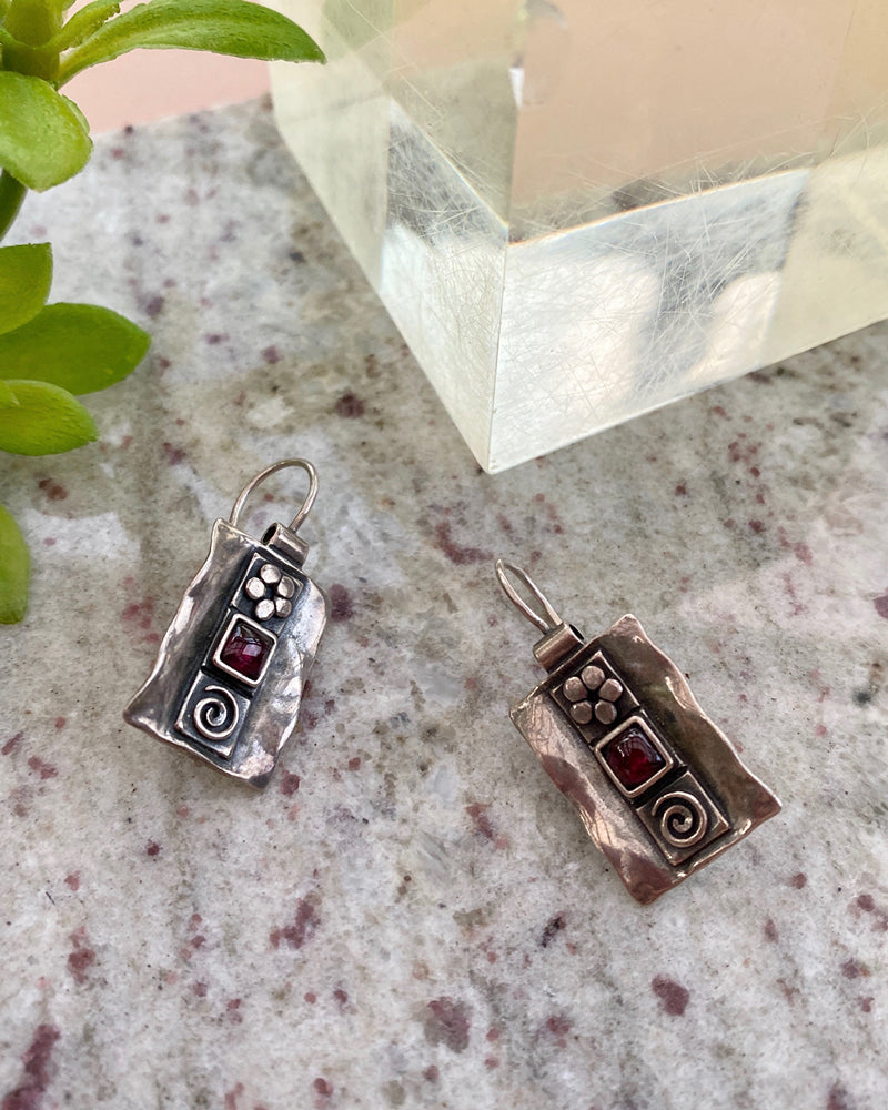 90s Sterling Silver Earrings