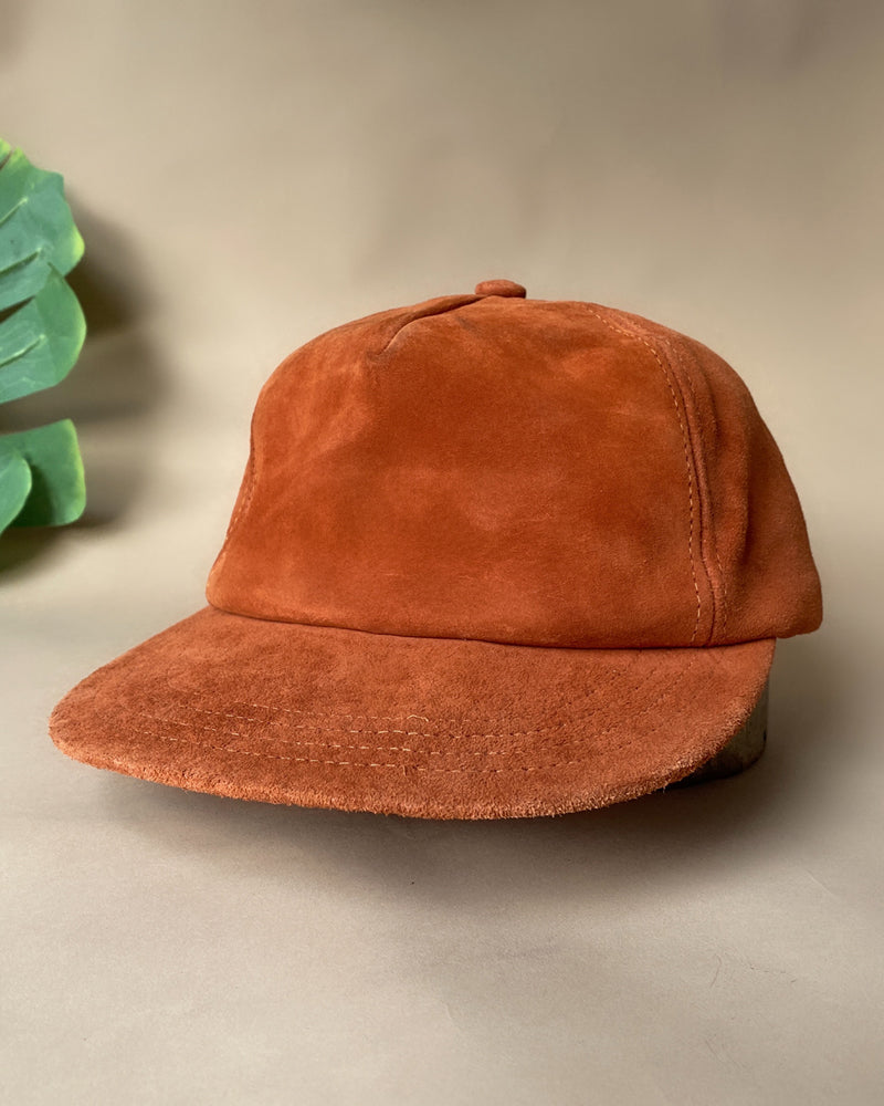 90s Suede Leather Ball Cap