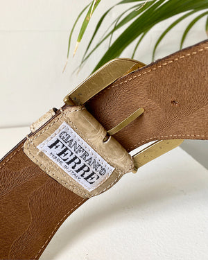 80s Gianfranco Ferre Leather Belt