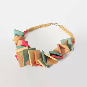 80s Chunky Wood Necklace