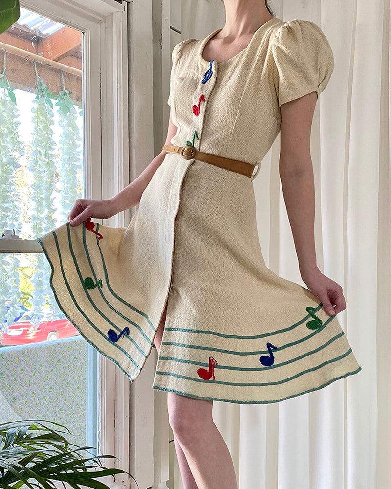40s Music Note Dress