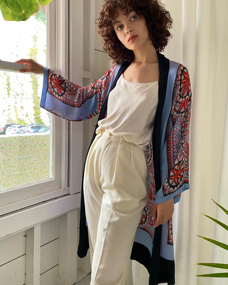 20s Paisley Print Duster