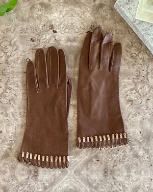 60s 2-Tone Leather Gloves