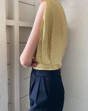 60s Metallic Gold Top